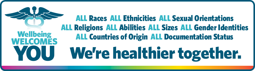 ALL Races  ALL Ethnicities  ALL Sexual Orientations ALL Religions  ALLAbilities  ALLSizes  ALLGender Identities ALLCountries of Origin  ALL Documentation Status We're healthier together.
